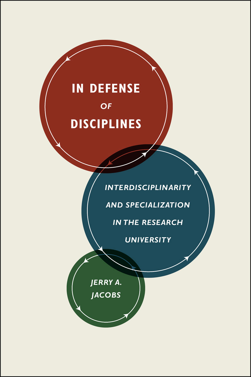 book cover, In Defense of Disciplines