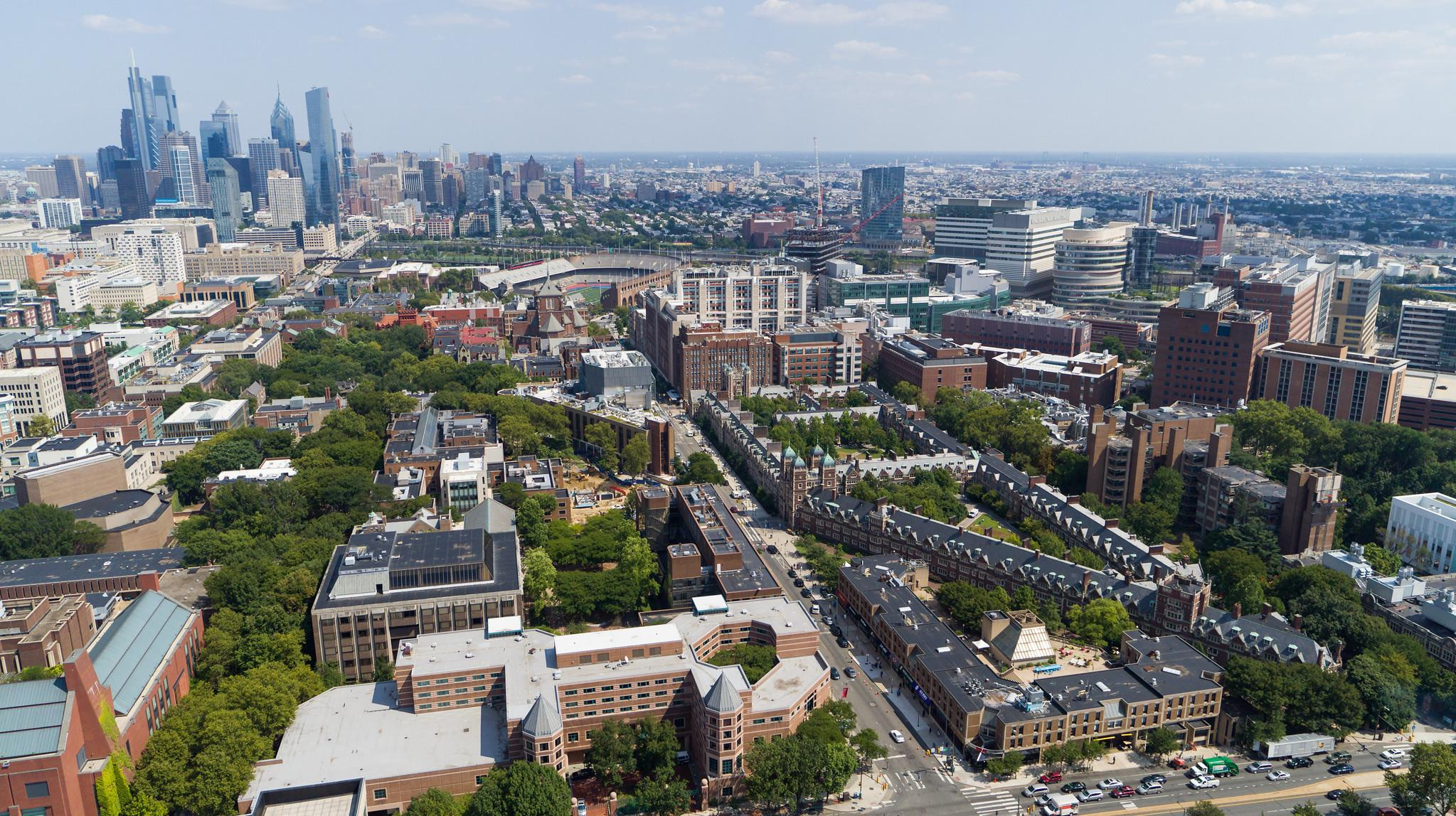 Aerial View of Penn Campus